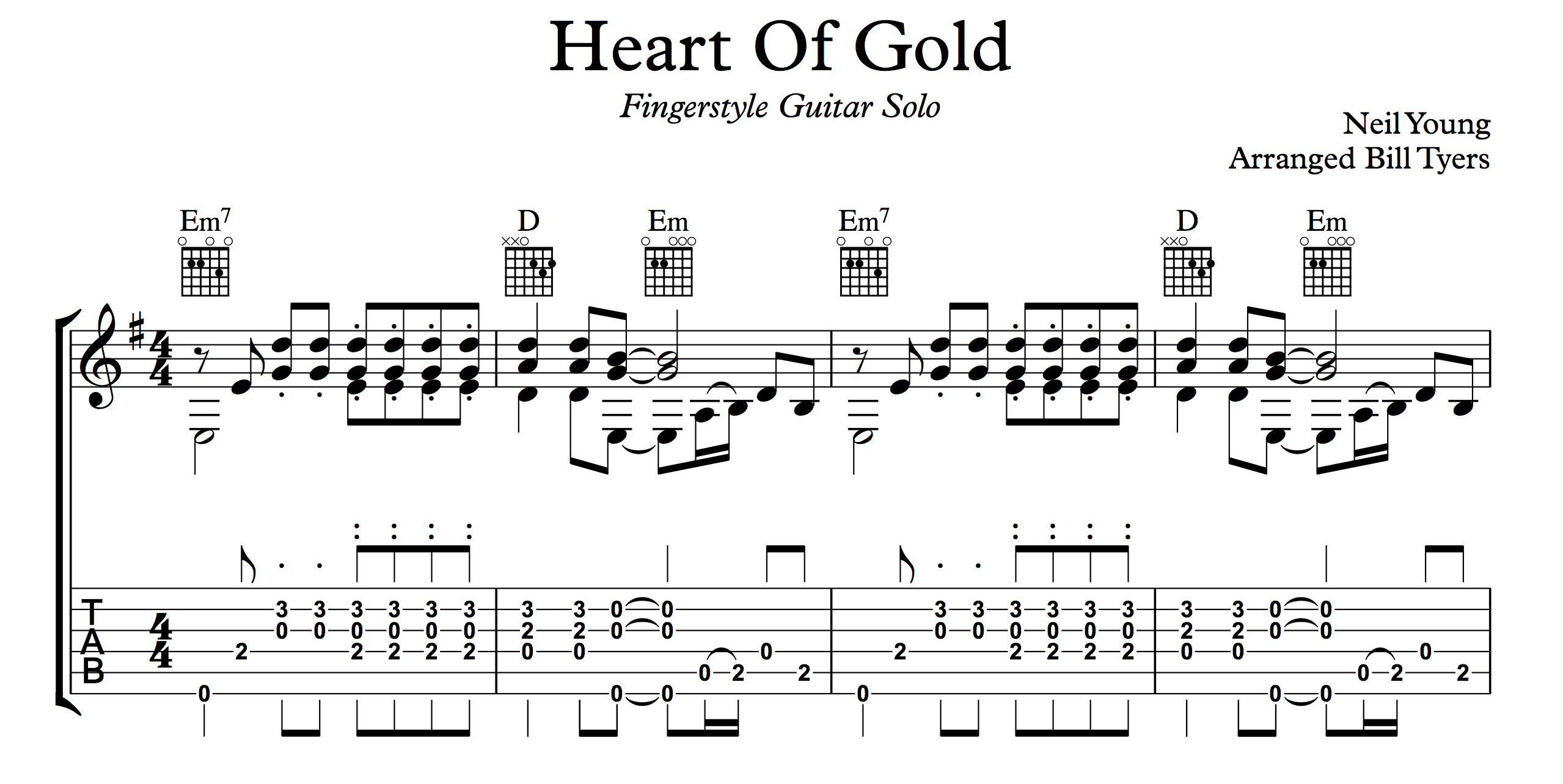 Heart of Gold Tabs submited images.