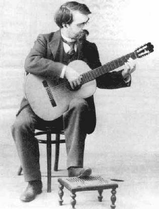 Tarrega Playing Guitar