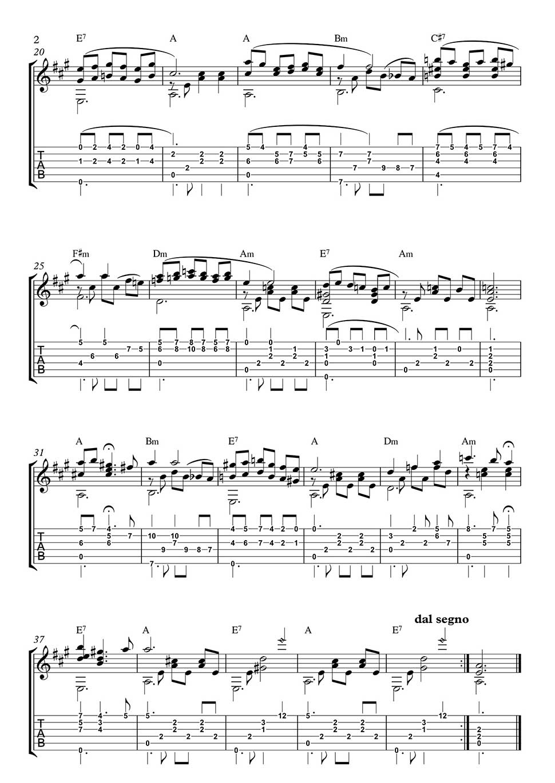 95e49305dd Come Back To Sorrento for Classical Guitar solo- Free classical ...