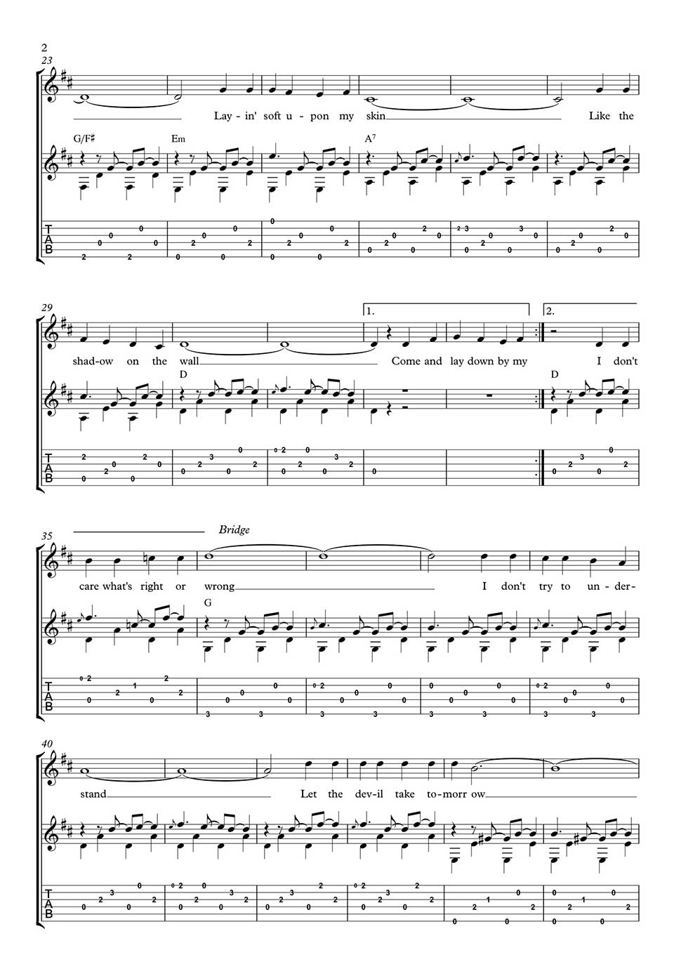 Help me make it through the night fingerstyle guitar part in tab download pdf file hexwebz Images