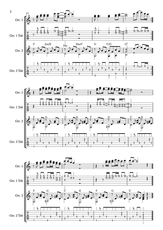 Imagine By John Lennon Arranged For Classical Guitar Duet By Bill