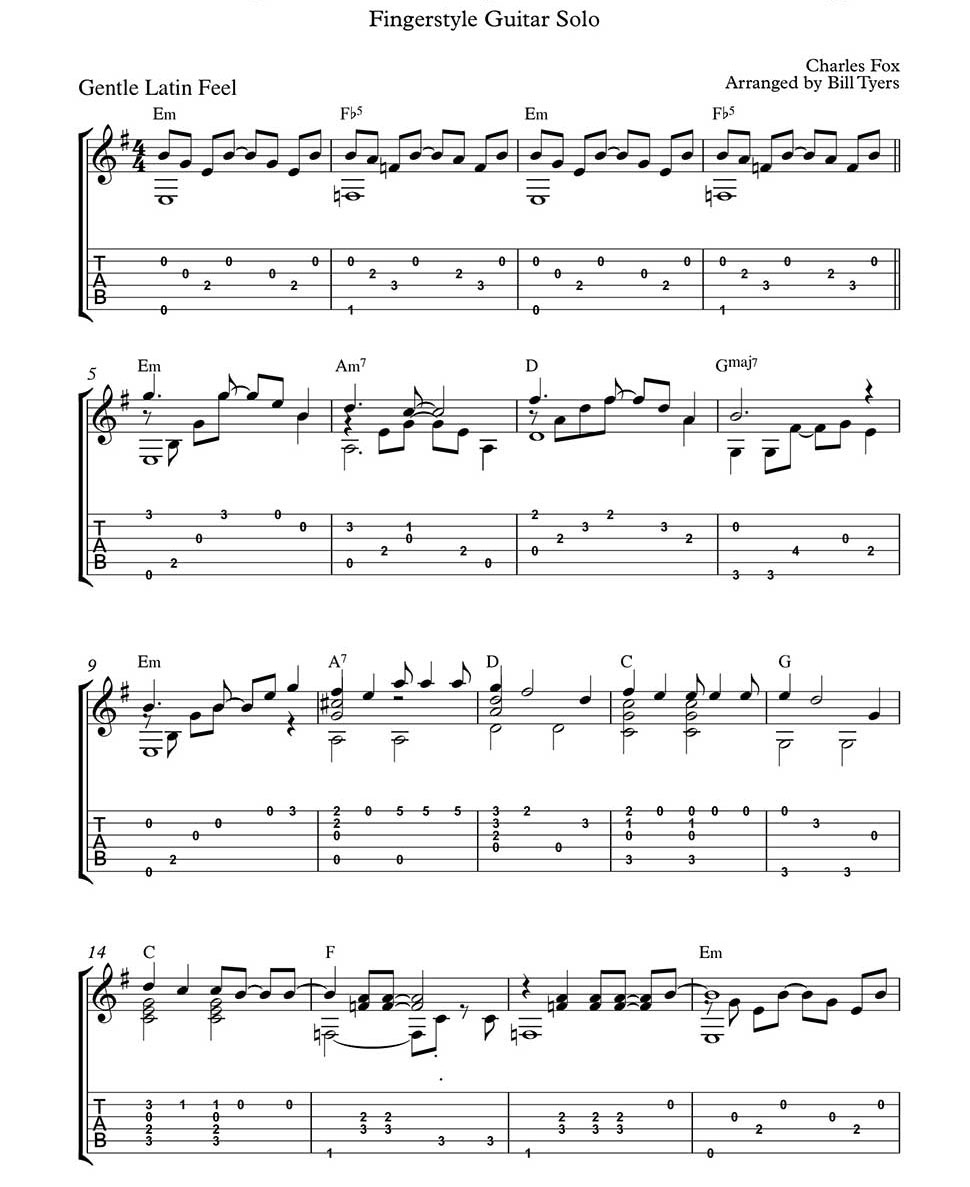 Killing Me Softly With His Song By Charles Fox Arranged For