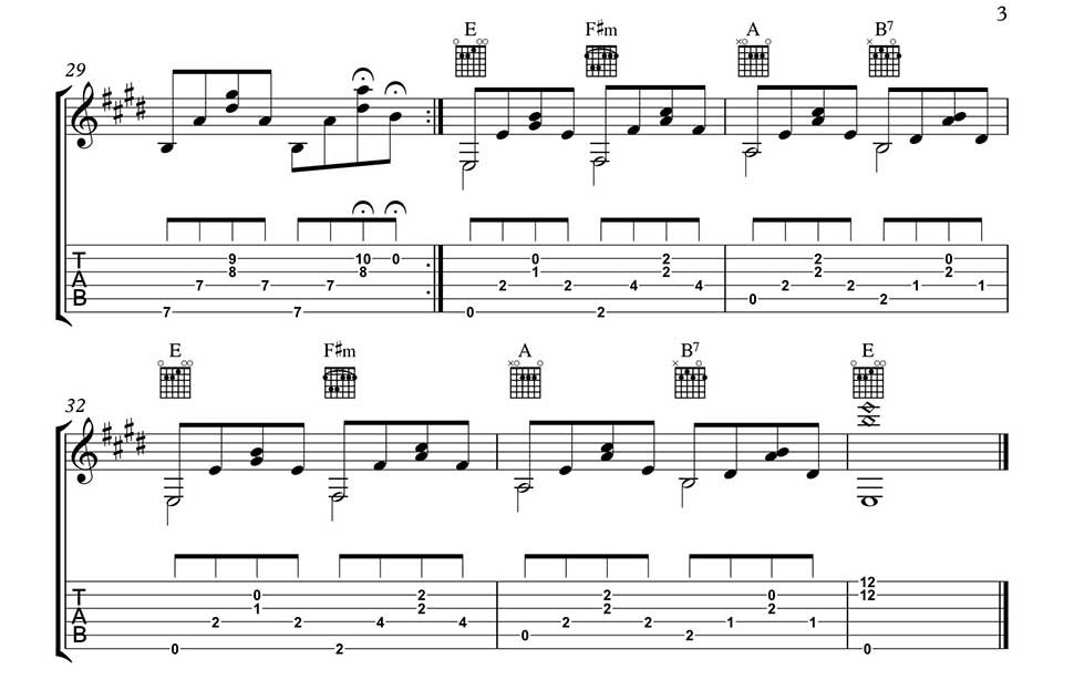 Love Is All Around Free Fingerstyle Guitar Music In Tab And Notation