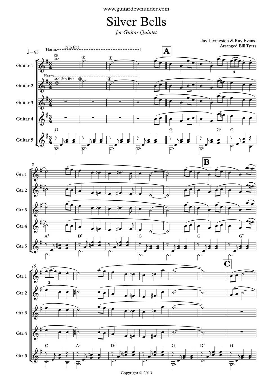Silver Bells Arranged For Guitar Quintet By Bill Tyers